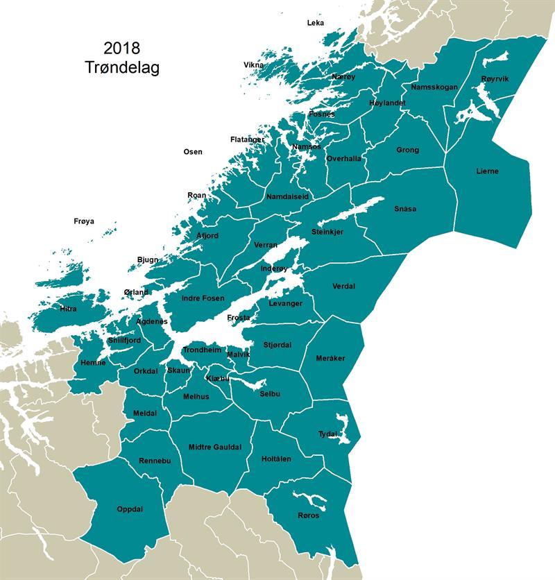 Faktafredag Hvordan Trondelagskartet Har Endret Seg I Arene 2017