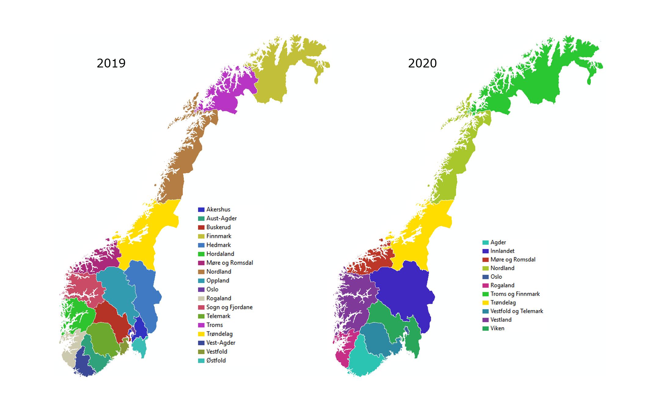 Faktafredag Norske Fylker 2019 Og 2020 Trondelag Fylkeskommune